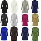 CELEB INSPIRE LADIES WATERFALL BELT JACKET DRAPED WOMEN'S CARDIGAN TRENCH COAT