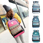 Fashion Unisex Women Men's Canvas Backpack School Bag Satchel Travel Rucksack