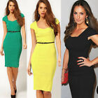 2015 Women Elegant Formal Knee-length Bodycon Fitted Party Pencil Sheath Dress