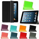 Wake/Sleep Slim PU Leather Case With Rubberized Anti-Slip Cover for iPad  4/3/2