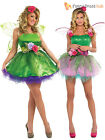 Deluxe Adult Ladies Woodland Nymph Green Pink Fairy Pixie Fancy Dress Costume