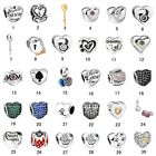 New Silver Charm fit Bracelet Necklace DIY Jewelry Floating charm Beads Heart 1