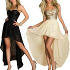 Elegant Women Strapless Paillette Long Ball Homecoming Prom Gown Evening Dresses