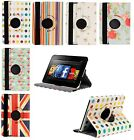 Rotating 360 Stand Case Cover Wallet for Amazon Kindle Fire HD 7 4th Gen 2014