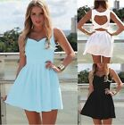 Sexy Women Pierced Cocktail Party Evening Bandage Mini Dress Summer Beach Skirts