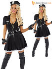 Sexy Ladies Police Woman Cop Officer Uniform Fancy Dress Costume Hen Do Outfit