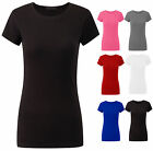 New Ladies Casual Top Womens Plain Basics Cap Sleeves Jersey T Shirt Sizes 8-12