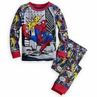 Disney Store Marvel Spiderman Boy 2PC Long Sleeve Tight Fit Pajama Set Size 6 7