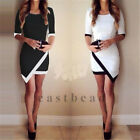 Sexy Ladyies Cocktail Dress Women Asymmetric Bandage Bodycon Dress Evening Party