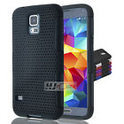 For LG Tribute SERIES Hybrid Rubber Hard Net Mesh Case Cover Colors
