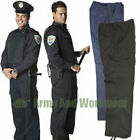 6 Pocket Combat Cargo Uniform Trousers Work Wear Pants Security MOD Army Police
