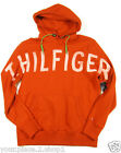 """Tommy Hilfiger Men's """"Potters Clay"""" Burnt Orange Pullover Graphic Hoodie"""