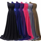 SUMMER New Long Chiffon Bridesmaid Formal Ball Party Evening Prom Dress Plus Sz