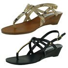 Steve Madden Flirting Women's Demi Wedge T-Strap Sandals