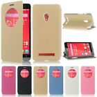New Ultra-Thin Slim Circle Window Flip Leather Case Cover For ASUS ZenFone 5