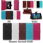 Magnetic PU Leather Flip Card Slot Protective Cover Case Stand For Huawei Ascend