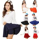 Women Bust Shorts Skirt Pants Pleated Plus Size Fashion Candy Color Skirts
