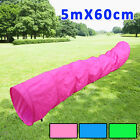 5M Dog Agility Tunnel Pet Obedience Training Exercise Activity With Free Bag