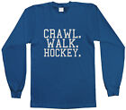 Threadrock Girls Crawl Walk Hockey Youth L/S T-shirt Sports Slogan Puck Ice