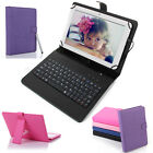 """8 inch Tablet Cover Stand Folio Keyboard Case PU Leather for Android 8""""Tablet PC"""