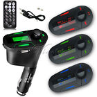Car Kit MP3 Player Wireless FM Transmitter Modulator Radio Audio USB LCD Remote