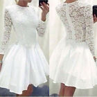 Sexy Womens Lace Long Sleeve Causal Bodycon Cocktail Party Mini Dress Reliable