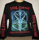 Vital Remains Forever Underground long sleeve T-Shirt Size Small S & 3XL XXXL