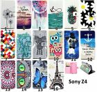 Cute butterfly Eiffel Tower wallet Flip Leather case cover for Sony Xperia Z4