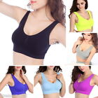 Women Smooth Thin Seamless Bra Sport Push Up Shakeproof Yoga Camisol Girls NEW