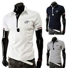 New Men's T-shirt Lapel Collar POLO Short Sleeve Cotton Shirts Tee Tops Fashion
