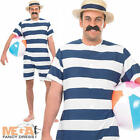 Old Time Bathing Suit Mens Fancy Dress 1920s Victorian Swimsuit 20s Costume
