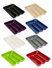 4 Compartment Plastic Cutlery Knife Holder Tray Drawer Rack Caddy