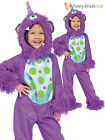 Kids Toddler Purple Monster Onesie Fancy Dress Up Costume Halloween Outfit Baby
