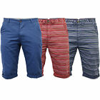 Mens Shorts Jack South Striped Bottoms Knee Length Roll Up Beach Casual Summer