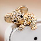 Bling Cute Bear Anti Dust Proof Plug Cap For iPhone 6 Plus Samsung Galaxy S6 S5