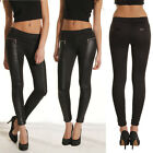 SUMMER BLACK+Sexy MIni Womens PU Leather Legging Jegging Stretchy Skinny Pants
