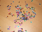 200 Acrylic AB Rhinestones Flat Back Gems 4mm Various Colours