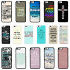 Sayings Quotes Case Cover for Apple iPhone 4 4s 5 5s 6 6 Plus - 37