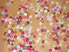 Apx 200 Acrylic Flat Back Pearl Bead Gems 5mm Various Colours