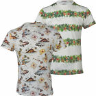 Mens Hawaiian Fashion Floral  T- Shirt Short Sleeve Casual Cotton Summer