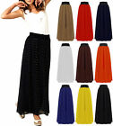 Ladies Womens Plus Size Chiffon Flare Gypsy Boho Long Maxi Dress Skirt