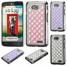 For LG Optimus Exceed 2 VS450 Diamond Desire Back BLING Case Cover +Screen Guard