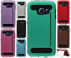 For Samsung Galaxy S6 EDGE TPU HARD Hybrid Card Kickstand Skin Case Cover