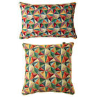 Scatter Box Kaleidoscope Geometric Woven Jacquard Feather Filled Cushion, Multi