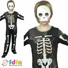 HALLOWEEN HORROR SCARY SPIDER SKELETON - age 4-9 - kids boys fancy dress costume