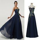 PEACOCK Long 50s Mother of the Bride Evening Ball Gown Formal Party Prom Dresses