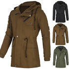 Mens Trench Coat Winter Jacket Hooded Coat Overcoat Windbreaker Outwear Long New