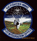 1st Fighter Wing Patch US AIR FORCE F-22 RAPTOR PIN UP Integration Office AFB