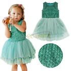 Baby Girls Kids Princess Rose Flower Tulle Tutu Party Xmas Outfit Dress Age 1-6Y