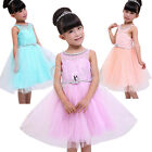 Flower Girl Lace Princess Kid Party Pageant Wedding Bridesmaid Tutu Dress Y9-425
